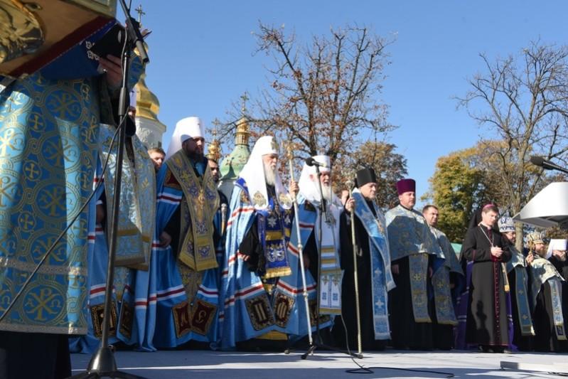 Gebet auf den Sofia-Platz in Kiew 2018